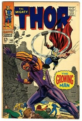 Thor #140 (1967) Fine New Original Owner Marvel Comics Collection