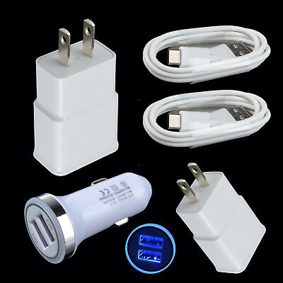 For ZTE Blade X/Z Max XL SPARK Zmax Pro Data Sync Type-C Cable Car/Wall Charger