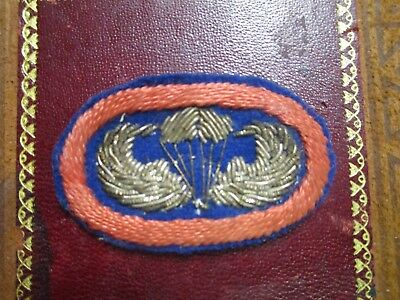 Original WW2 Bullion paratrooper wings parachutist Airborne oval