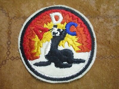 Original WW2 Alaskan Defence Command ADC Seal on white felt variant
