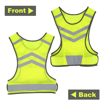 Safety High Visibility Reflective Running Vest Jogging Bike Cycling Walking EB