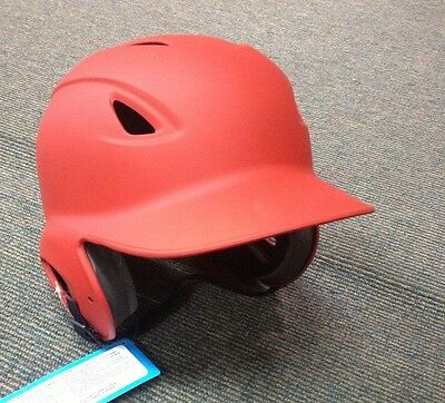 MVP Softball Baseball ADJUSTABLE Batting Helmet NEW MATTE RED