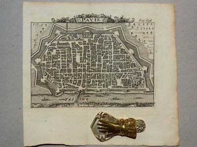 Pavia Lombardy Italien Italia Italy - Kupferstich engraving Karte Rogissart 1706