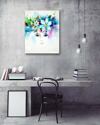 "16x20"" Wall Art Poster-Abstract Woman Flower Prints Room Decor Canvas Painting"
