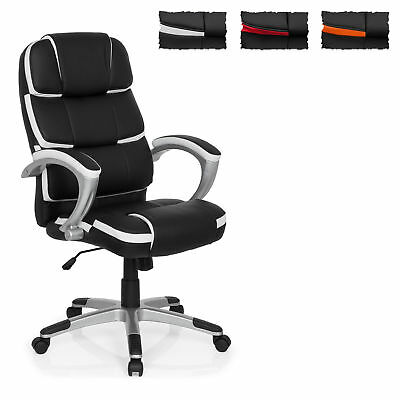 Home Office Executive Chair GAMING PRO BY 100 Padded Armrests Faux Leather Chair
