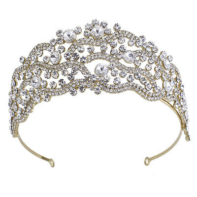 2.2 Inch High Crystal Tiaras Headpiece Pageant Queen Princess Rhinestone Crown