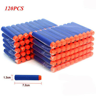 120pcs Gun Soft Refill Bullets Darts Round Head Blasters For Nerf N-Strike Toy