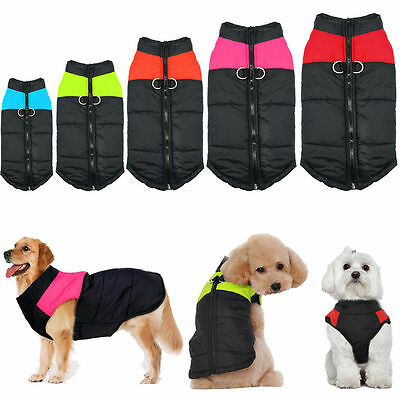 Winter Warm Dog Clothes Padded Waterproof Coats Pet Clothing Small/ Large Dogs I