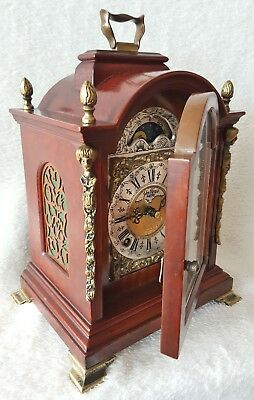Mantel Clock Warmink Shelf Double Bell Strike Silent Mode 26cm Dutch Vintage