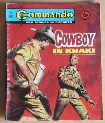 """COMMANDO # 641 """"Cowboy in Khaki"""" published 1972. War Stories Picture Library."""