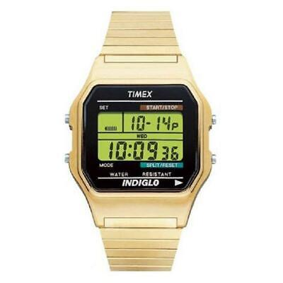 Timex Originals Mens Yellow Gold Plated Digital Retro Style Watch T78677