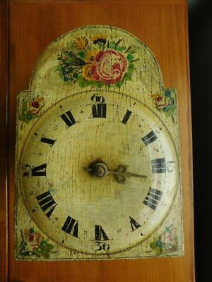 Antique early 19thC Postman's Chiming Wall Clock A/F c1820 Painted Tole Dutch?