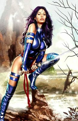 Greg Horn SIGNED Marvel Comic X-Men Super Hero Art Print ~ Psylocke