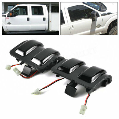 Ford F250 F350 F450 F550 Super Duty Towing Mirrors Side LED Lights 2008-2016 Hot