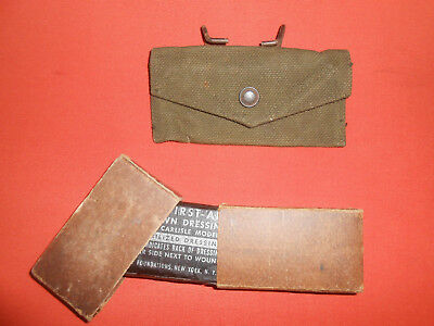 U.s.army :1943 Wwii 'british Made' First Aid Poush & Dressing First Aid,