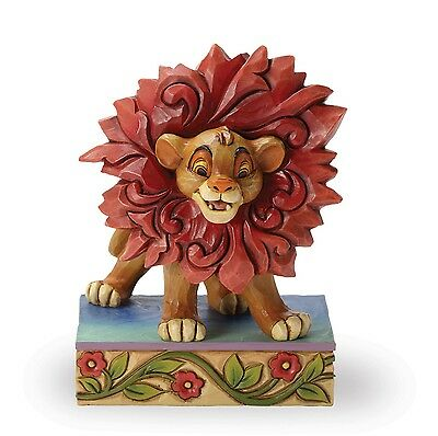 Disney Traditions Simba Can't Wait To Be King Ornament Resin Figurine Gift Box