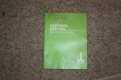 OKUMA CNC Systems OSP7000L OSP700L Maintenance Manual 3818-E