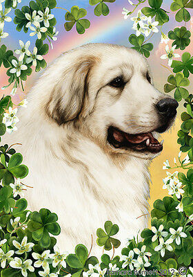 Large Indoor/Outdoor Clover Flag - Great Pyrenees 31146