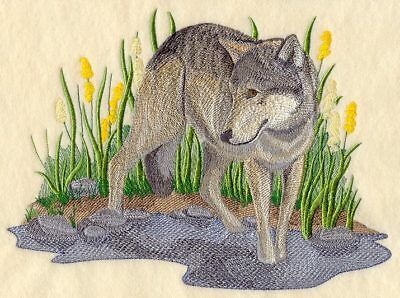 Embroidered Long-Sleeved T-Shirt - Summer Wolf C5508 Sizes S - XXL