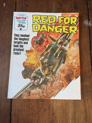 Battle Picture LIbrary ,No1555, Red For Danger  , Published 1982