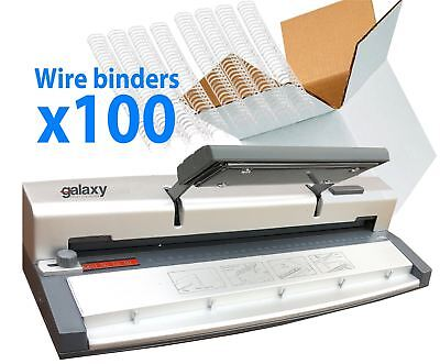 Galaxy G60 Home Office Manual A4 Wire Binding Machine Includes 100 Wire Bindings