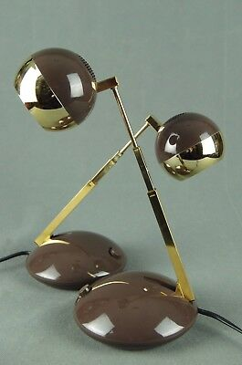 2 x Side Lamps EICHHOFF WERKE 1970s Vintage Space Age Panton Eames Modernist 60s