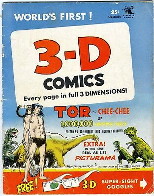3-D COMICS Oct. 1953 No. 1 w. org. glasses, 36pgs. Complete