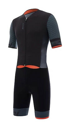 Santini SMS Redux TT Suit Black/Grey/Orange 2018