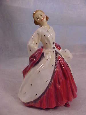 Royal Doulton #1981 THE ERMINE COAT Pretty Young Woman Holding Muff Figurine Rx