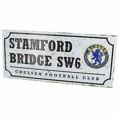Chelsea Fc Retro Football Metal Street Sign New Official