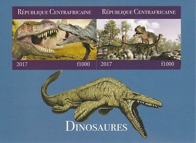Central African Rep 6681 - 2017 DINOSAURS #2 imperf sheet unmounted mint