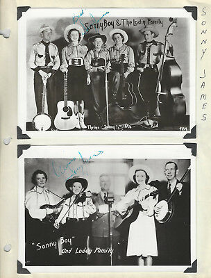 Sonny James 27 Photos / Fan Club Pieces / Studio Card SIGNED - Grand Ole Opry