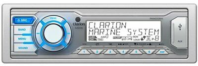 Clarion Marine Digital Media USB/MP3/WMA Receiver w/ 13-Segment LCD Display