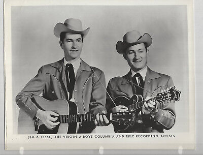 Jim & Jesse 5 8x10s Studio Photos 1 is Signed Columbia Records - Grand Ole Opry