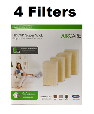 AIRCARE HDC411 Super Wick, Humidifier Wick Filter GENUINE 4 FILTERS