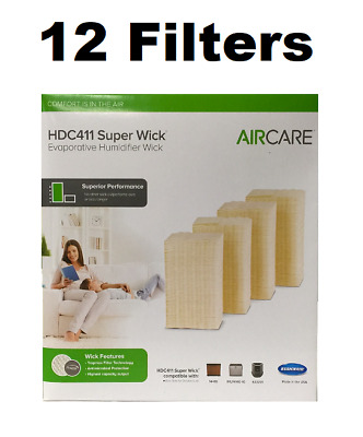 AIRCARE HDC411 Super Wick, Humidifier Wick Filter GENUINE 12 FILTERS