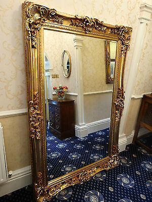 HUGE XL Oversized large Opulent Mirror Chunky Gold frame wall mounted or Leaner.