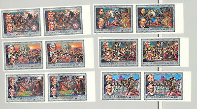 Comoros #165-170 Bicentennial, Horses, American Indians 6v Imperf Pairs