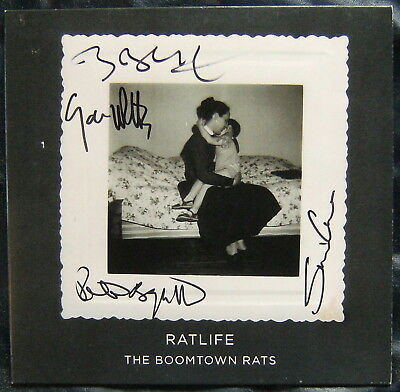 """THE BOOMTOWN RATS Ratlife 10"""" Promo AUTOGRAPHED 100 Copies Only! Bob Geldof"""