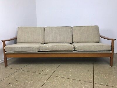 Sofa daybed 60er jahre teak danish vintage sofa sessel for Schlafsofa 70er
