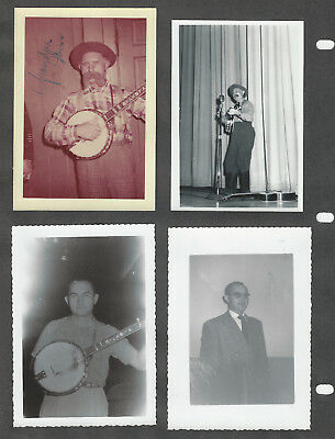 Grandpa Jones 14 Photos 2 are Signed - Grand Ole Opry