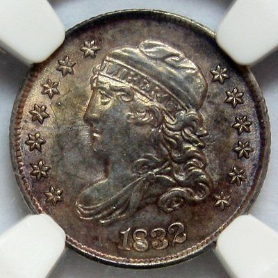 1832 Capped Bust Half Dime * NGC MS63 * Gorgeously Toned Beauty * FREE SHIPPING
