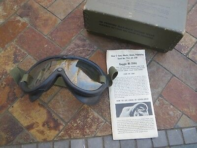 Vintage Field Equipment Mlitary Googles