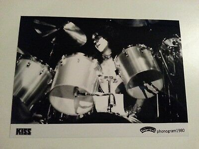 KISS / Eric Carr - Awesome Promo Press Photo 1980