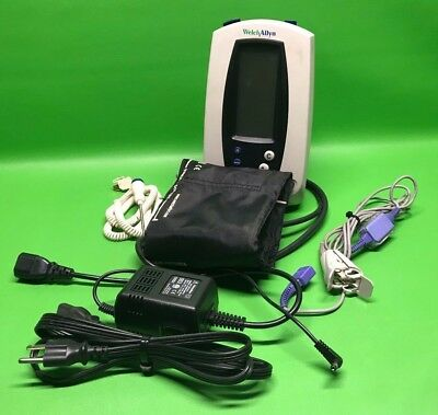 Welch Allyn 420 Series Spot Vital Signs Monitor With Power Supply & Accessories