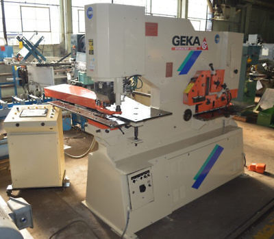 "110/Pd Geka ""Hydracrop"" Cnc Deep Throat Hydraulic Ironworker - #28321"