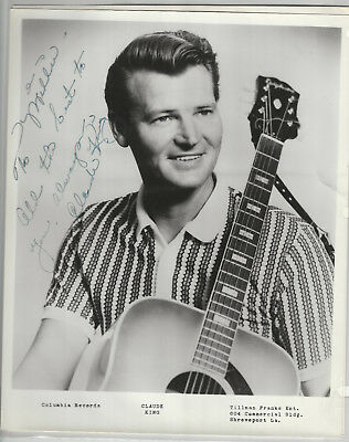 Claude King 4 Photos + 2 8x10s 1 is Signed - Grand Ole Opry