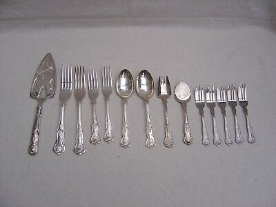 Vintage Silver Plate Kings Cutlery - 14 Pieces - Small Job Lot
