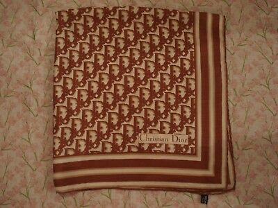 Beautiful Vintage 1980's Authentic CHRISTIAN DIOR Luxurious 100% Pure Silk Scarf
