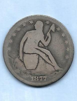 """Potty"" Half Dollar Carved on Seated Liberty Coin"
